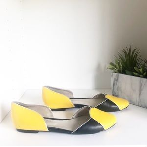 Shoes of Prey Black and Yellow Ballet Flats